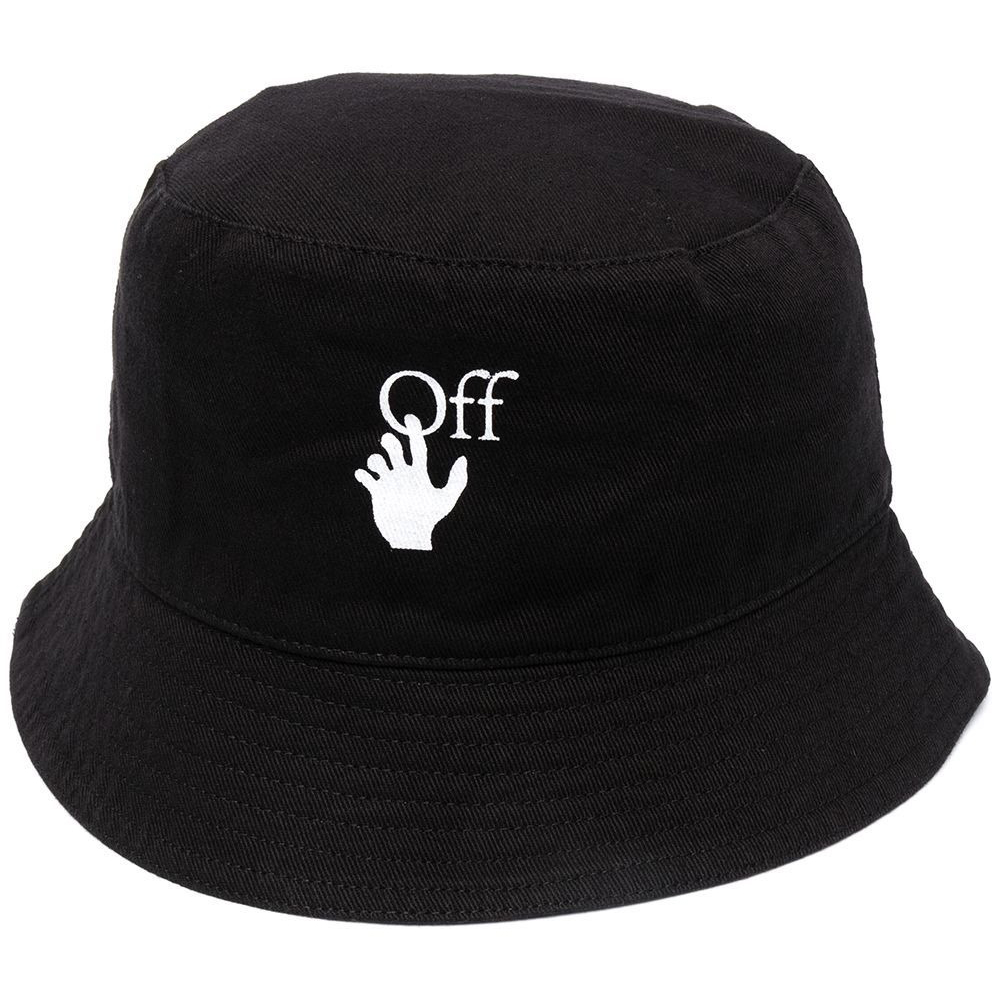 Off-White Logo Print Bucket Hat