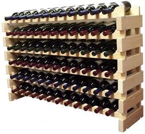 stackable modular wine rack, how to store wine