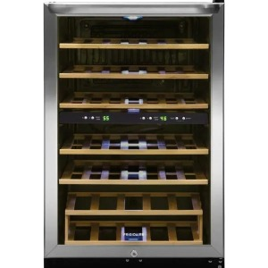 Frigidaire stainless steel wine cooler, how to store wine