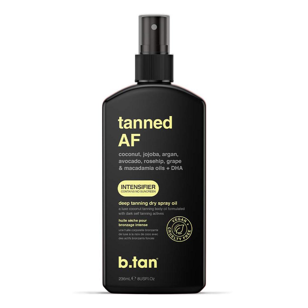 b.tan Tanned AF Tanning Spray Oil