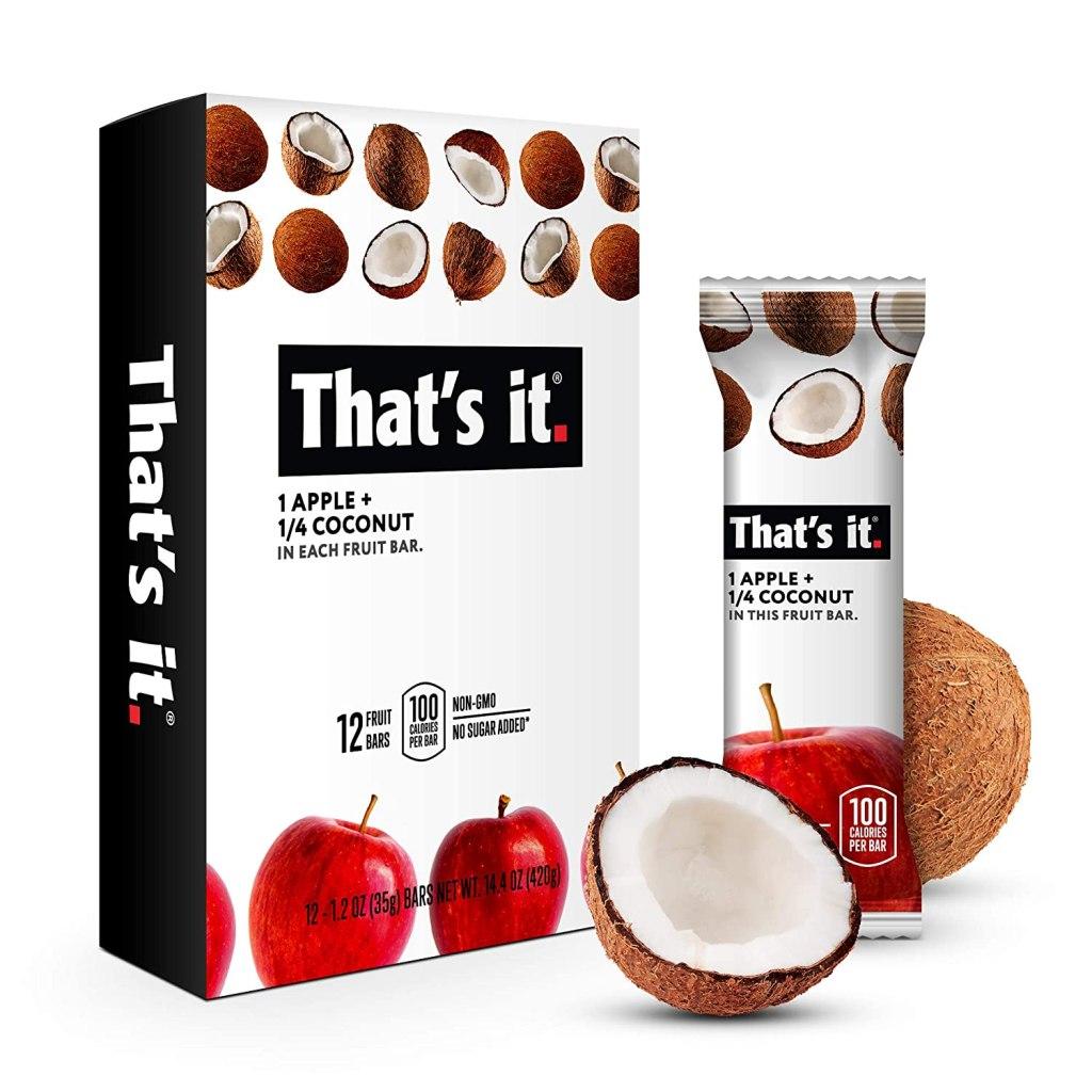 That's It Fruit Bars, best allergen-free snack