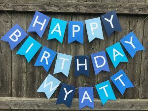 tincakes happy birthday banner, birthday banners