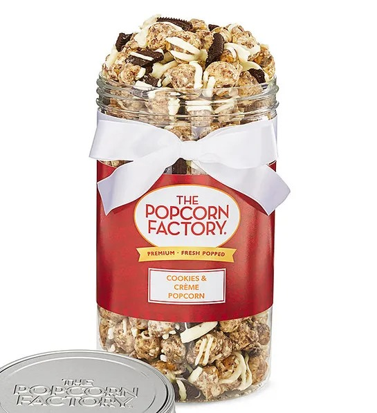 Harry & David, Cookies & Crème Special Edition Popcorn, Best Snack Foods