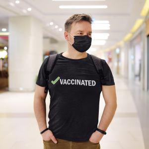 vaccinated t-shirt, covid vaccine merch