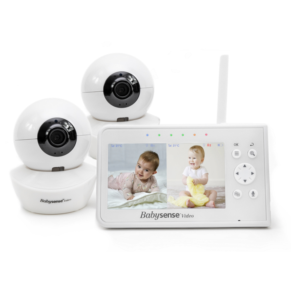 Basic baby video monitor for twins
