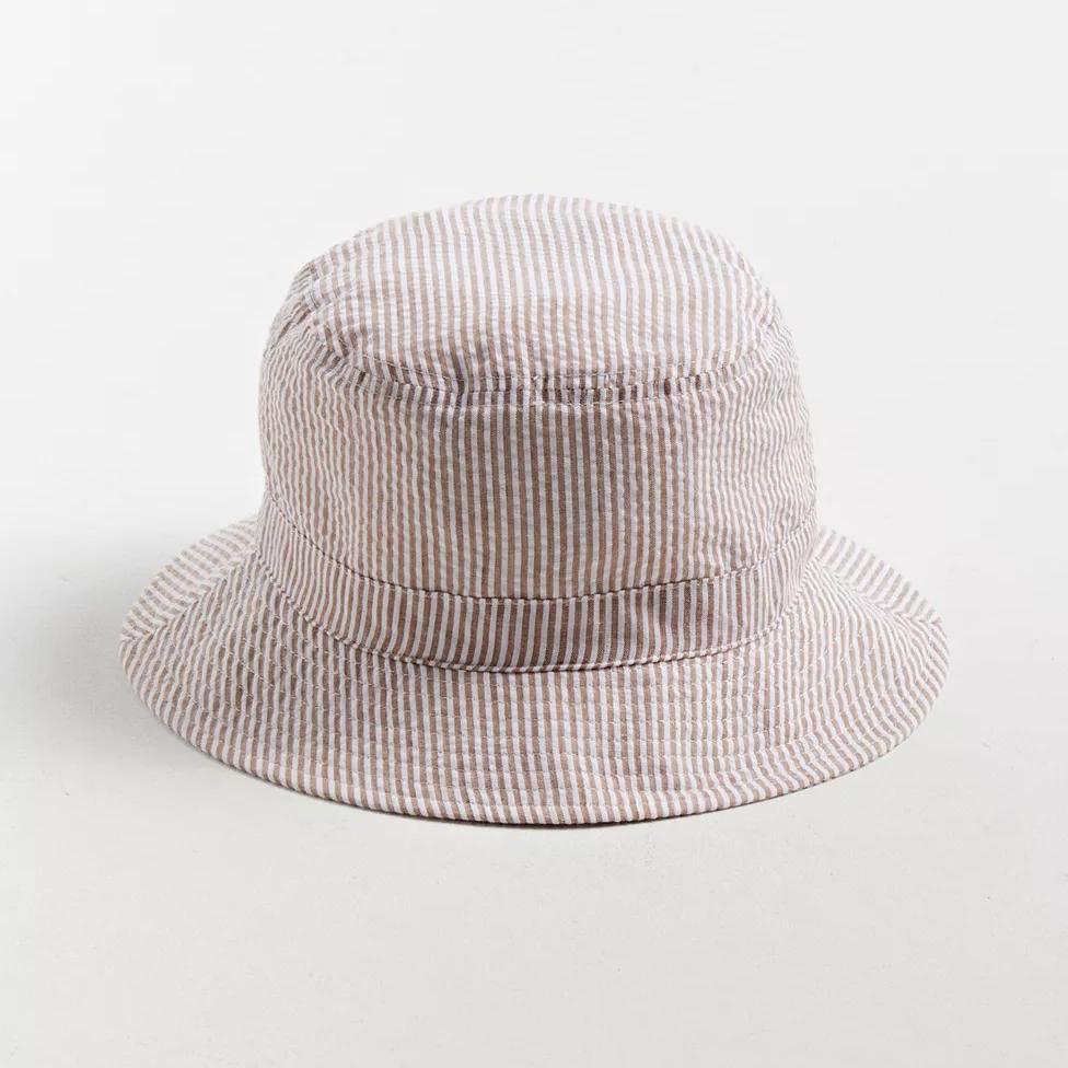 UO Seersucker Stitched Bucket Hat