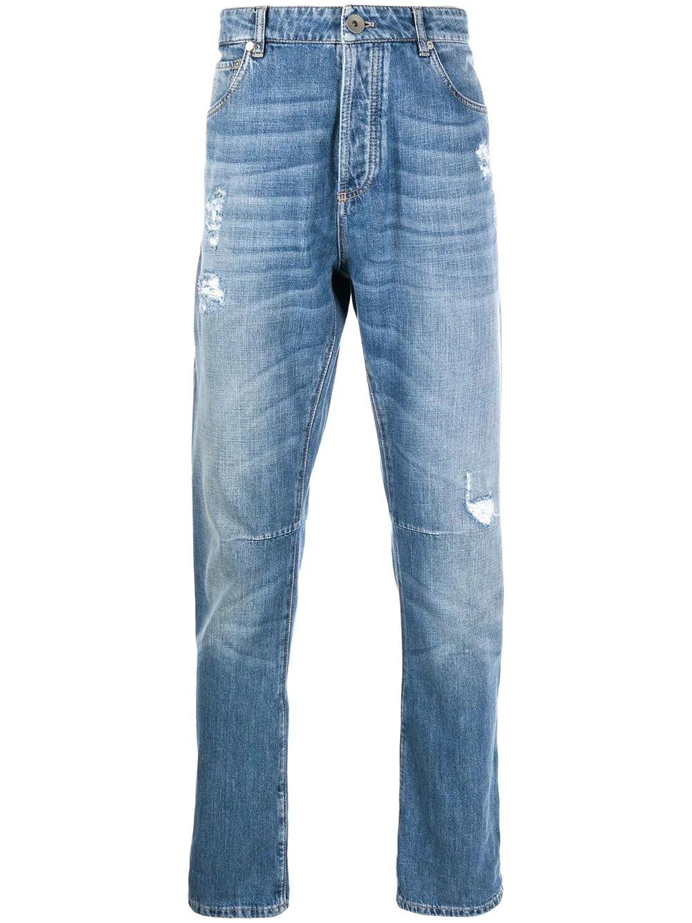 Brunello Cucinelli Straight-Leg Jeans, best designer jeans for men