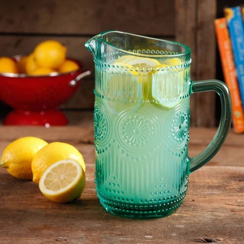 The Pioneer Woman Adeline 1.59-Liter Glass Pitcher, Bar cart accessories