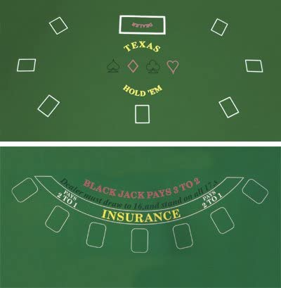 two sided poker table mat
