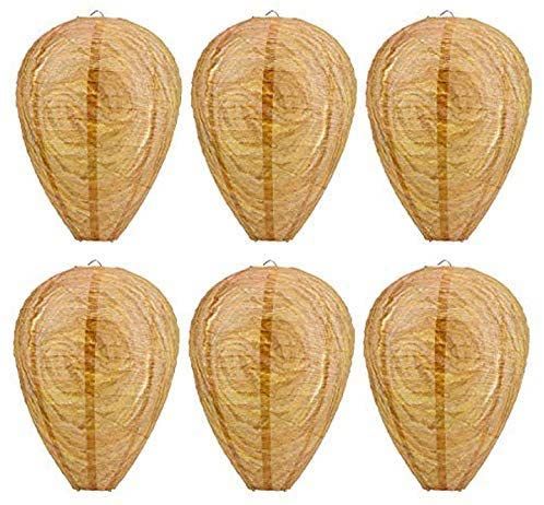 ANPHSIN 6-Pack Hanging Fake Wasp Nest Eco-Friendly Decoy