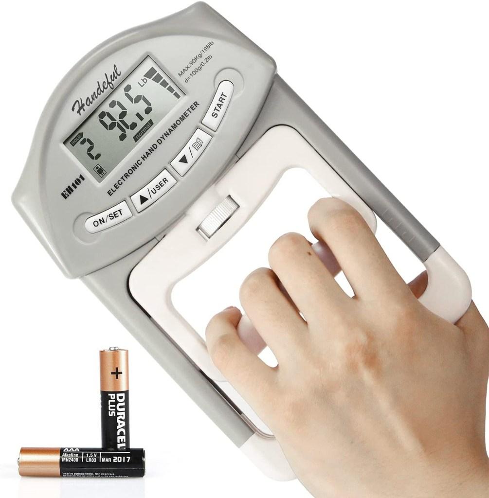 Handeful Grip Strength Tester, hand exerciser / grip strengthener