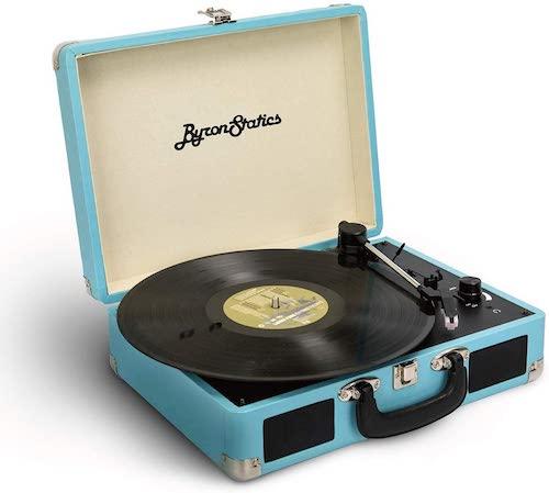 Byron Statics Vinyl Record Player, 3 Speed Turntable Record Player
