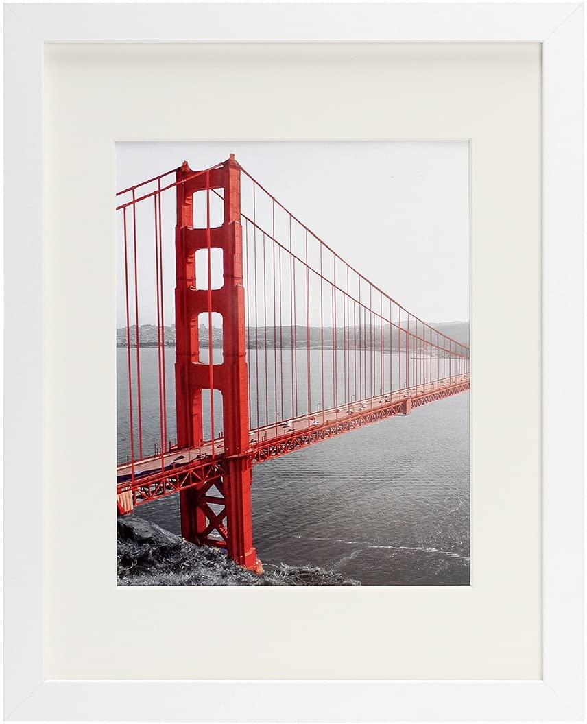 Frametory, 11x14 White Picture Frame