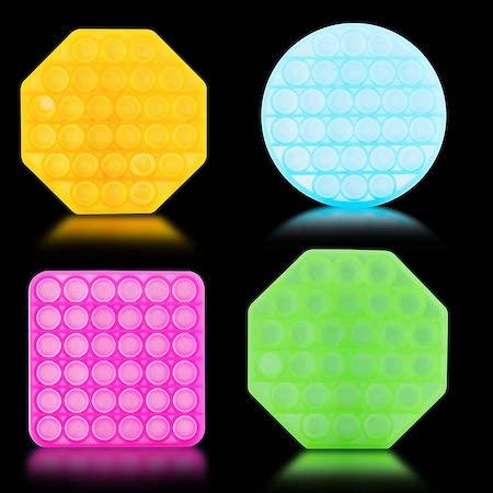Funmode Glow in the Dark Push Pop Bubble Toy