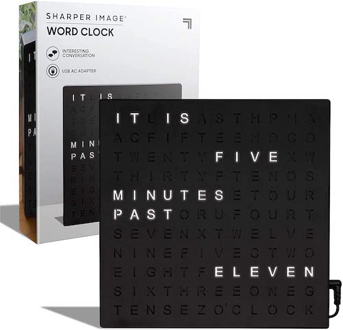 SHARPER IMAGE Light Up Electronic Word Clock,
