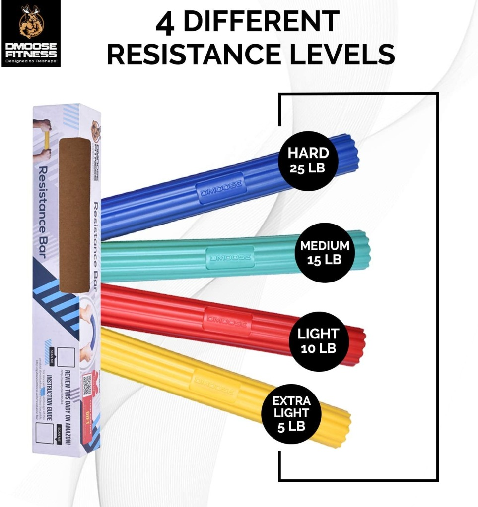 DMoose Flex Tennis Elbow Bar, hand exerciser / grip strengthener