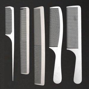 CCBeauty Metal Combs 5-Pack
