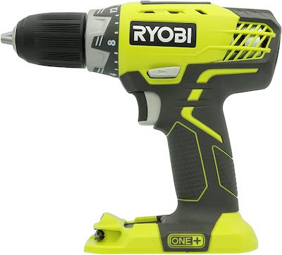 Ryobi P208 One+ 18V Lithium Ion Drill / Driver with 1/2 Inch Keyless Chuck
