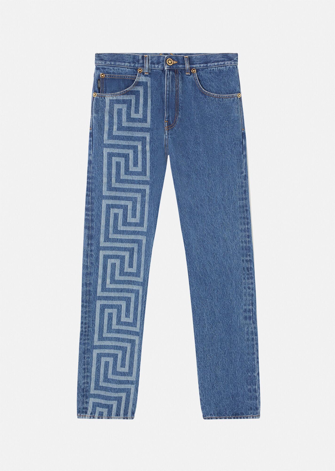 Versace Greca Jeans, designer jeans for men