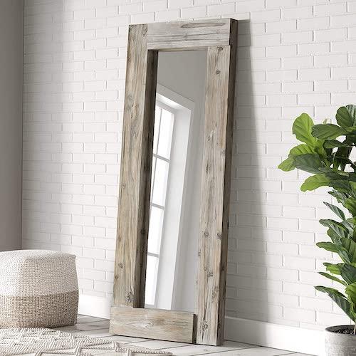 Barnyard Designs Decorative Distressed Unfinished Wood Mirror