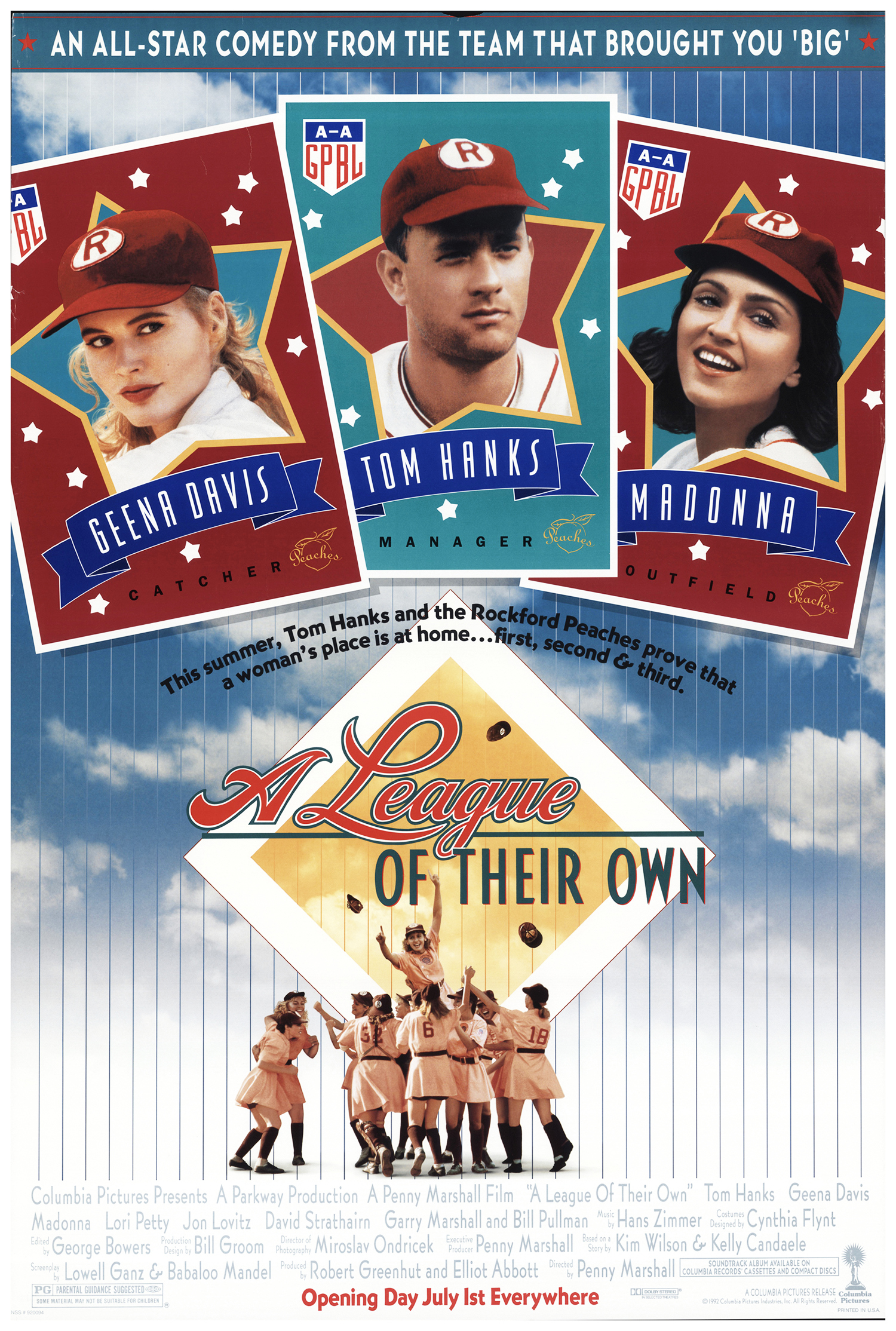A League of Their Own movie poster; best baseball movies