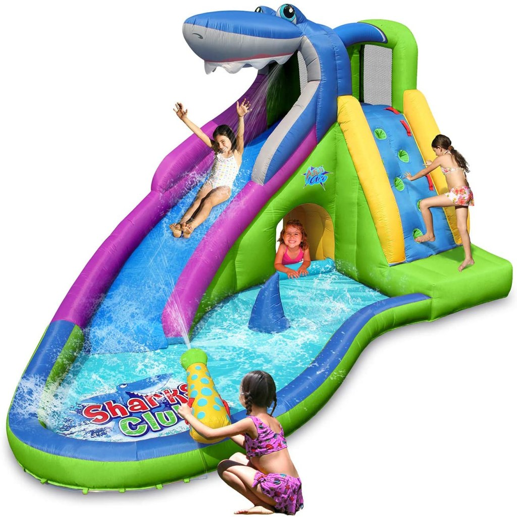 Action Air Inflatable Waterslide and Shark Bounce House