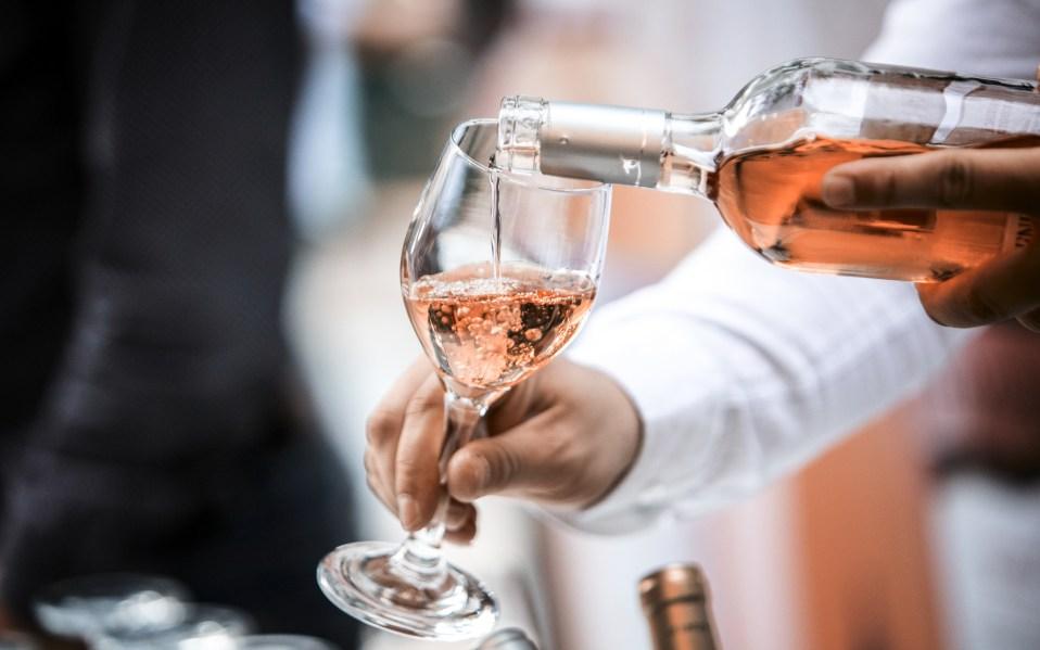 Rose Wine Glass