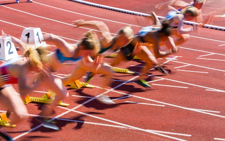 sprinters starting race, how to stream