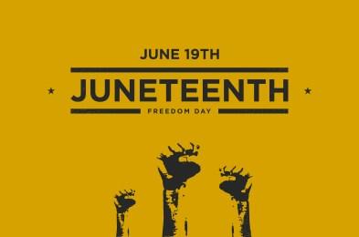 Juneteenth Freedom Day Background Design. Vector Illustration.