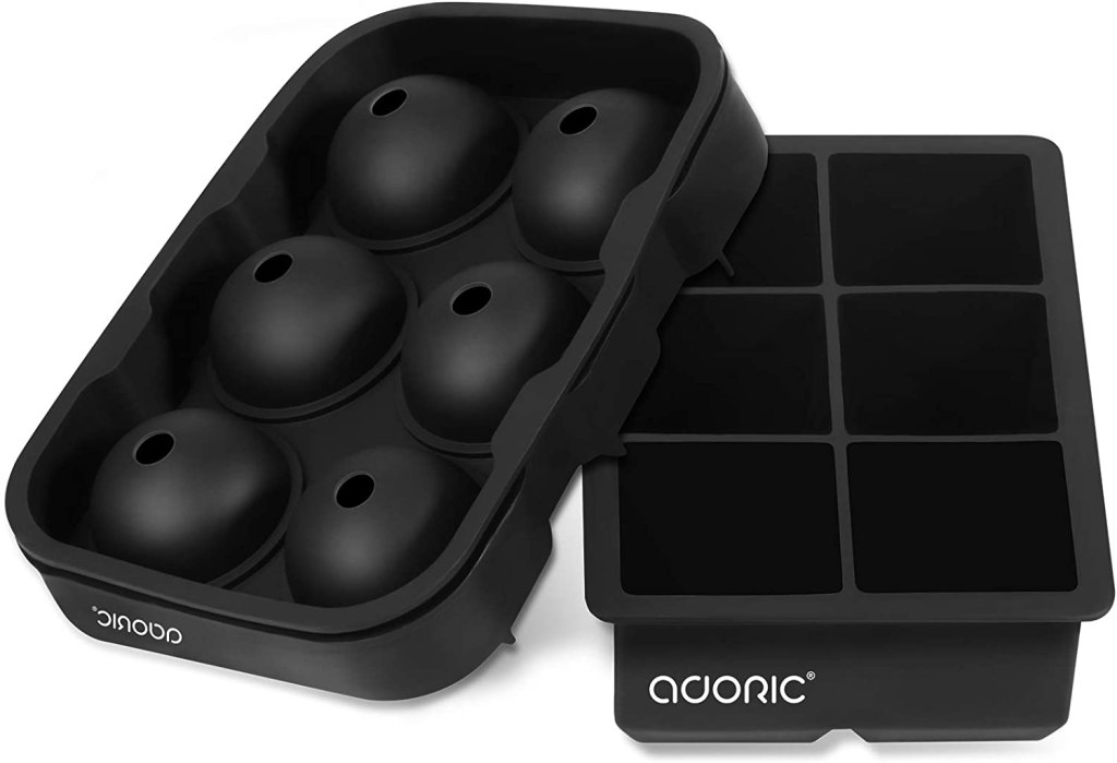 Adoric Large Square & Sphere Silicone Ice Cube Trays
