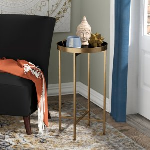 alvis cross legs end table, side tables with storage