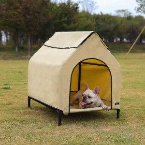best dog houses amazon basics elevated portable house