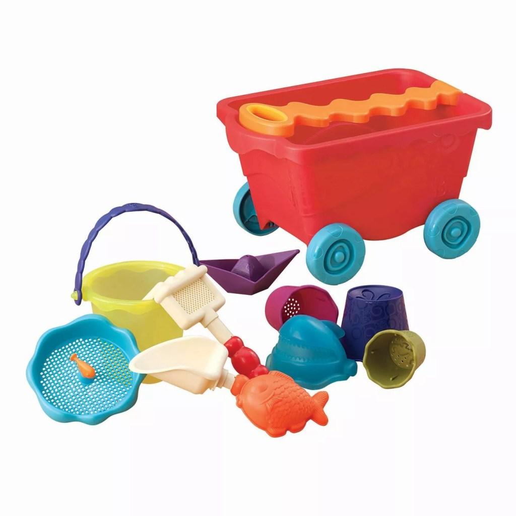 B. toys Wagon & Beach Playset