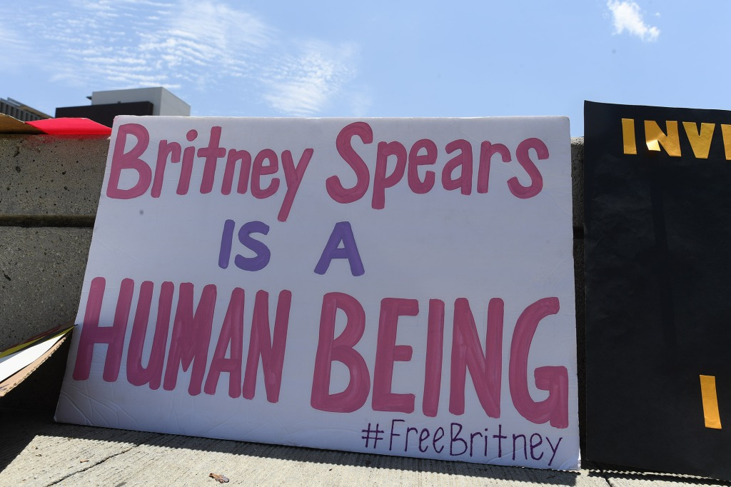 free britney spears protest sign