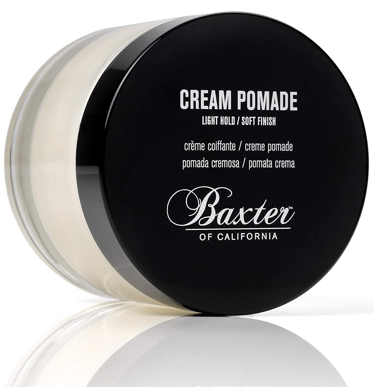Baxter of California Cream Pomade for Men, Natural Finish, Light Hold; best hair pomade