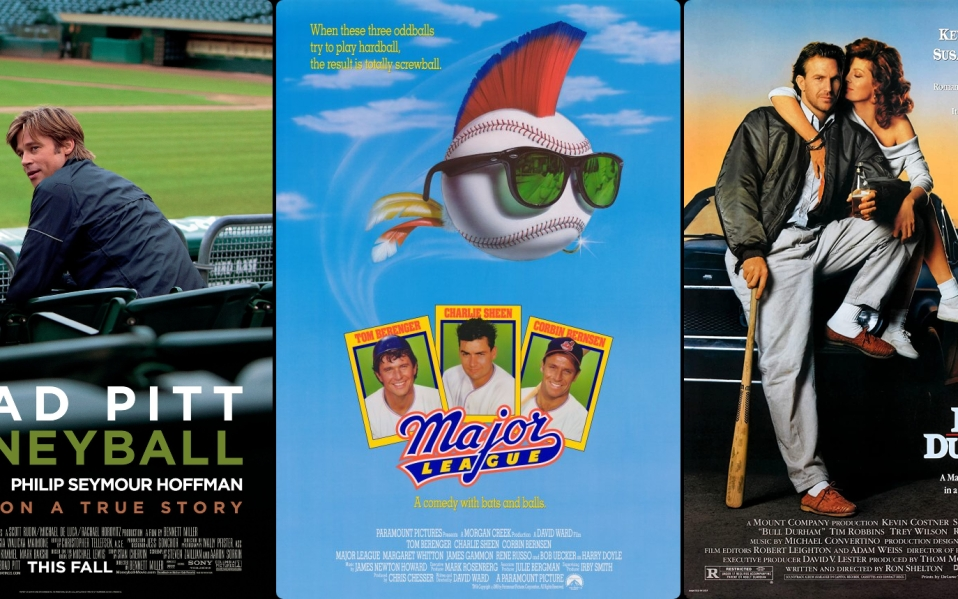 Movies posters for Moneyball, Major League