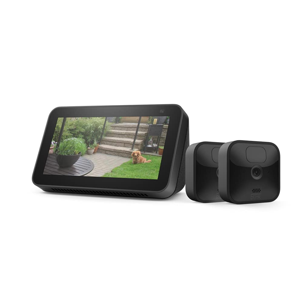 Blink Outdoor 2 Cam Kit bundle with Echo Show 5