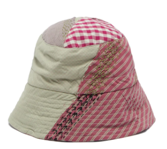 By Walid Callum Upcycled Patchwork Cotton Bucket Hat