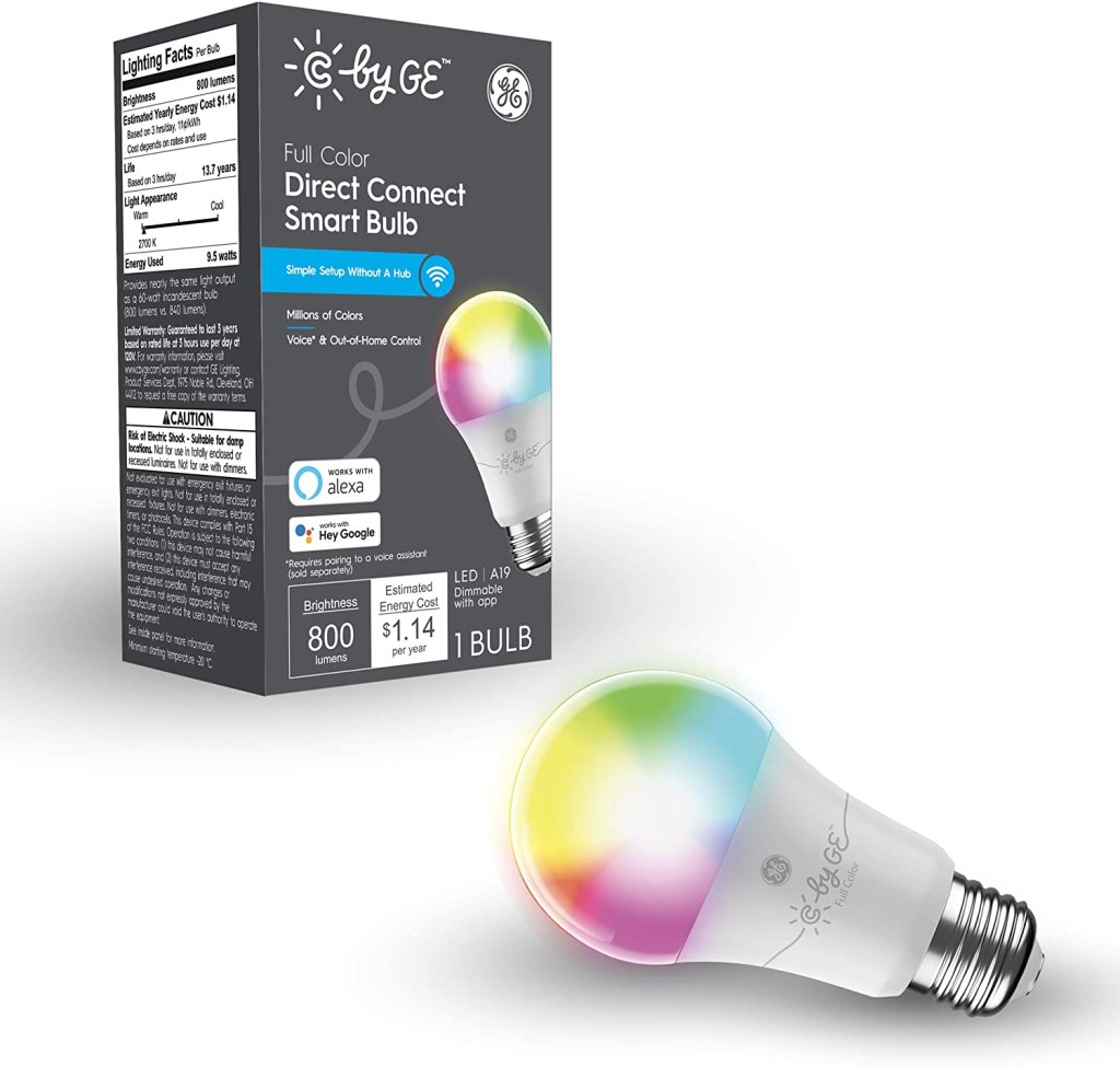 C by GE Full Color Direct Connect Smart LED Bulb