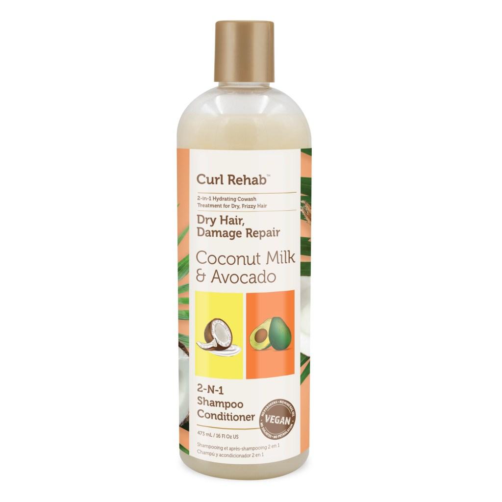 Curl Rehab Coconut Milk & Avocado Shampoo Conditioner, Best Moisturizing Shampoo for Dry Scalp