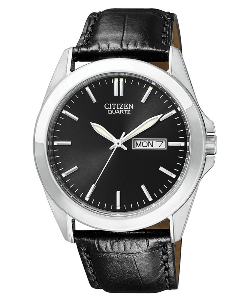 Citizen Black Croc Embossed Leather Strap Watch