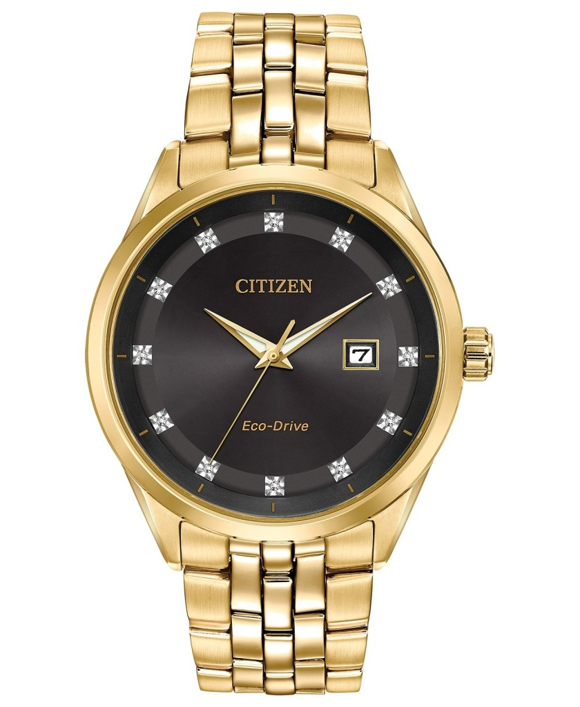 Citizen Eco-Drive Corso Diamond Accent Gold-Tone Stainless Steel Watch