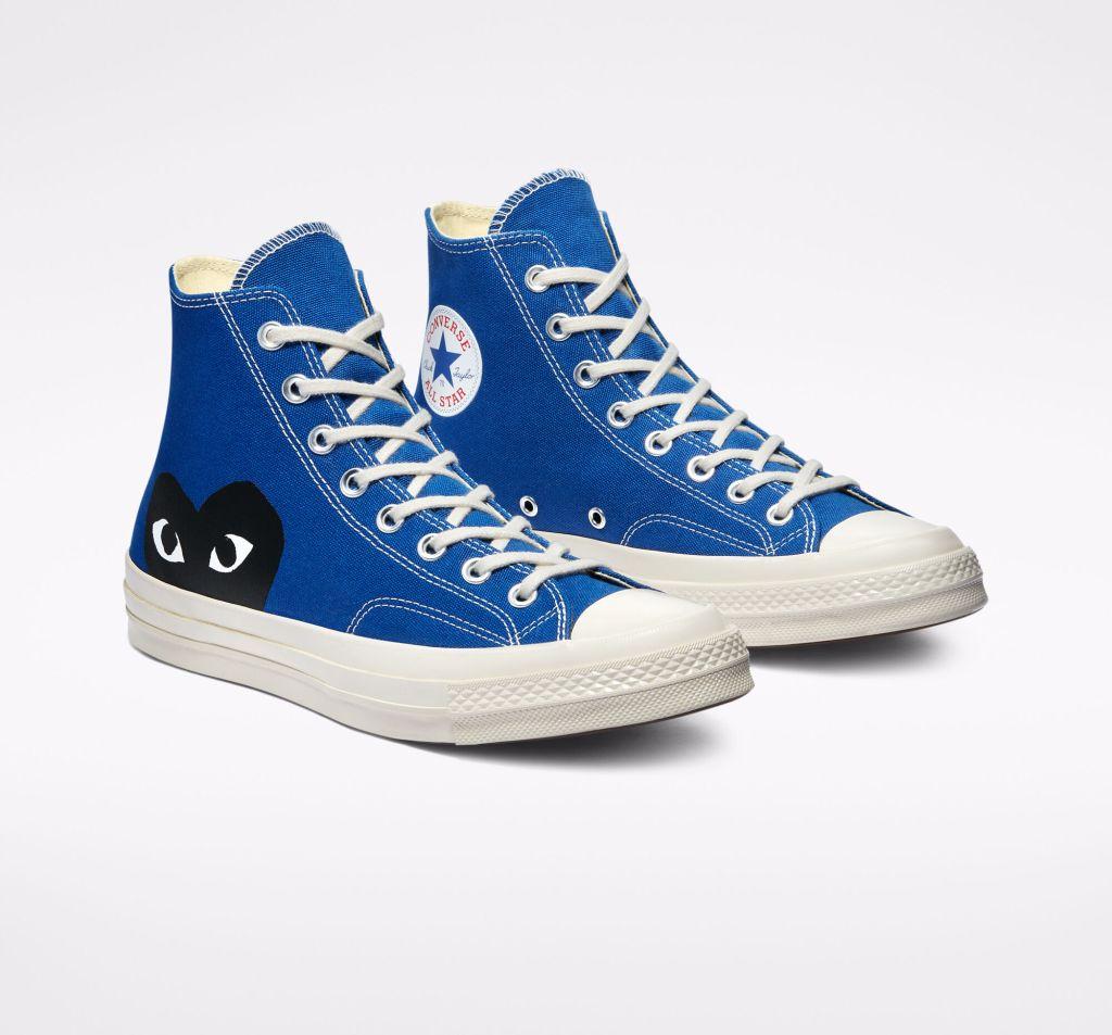 Converse x Comme des Garçons PLAY Chuck 70 Hi (Blue Quartz)