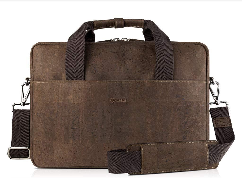 Corkor Cork Vegan Leather Messenger Bag
