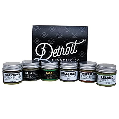 Detroit Grooming Co. Beard Butter Sampler, with six jars of beard butter
