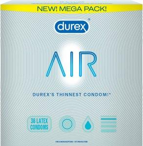 thinnest condoms durex air
