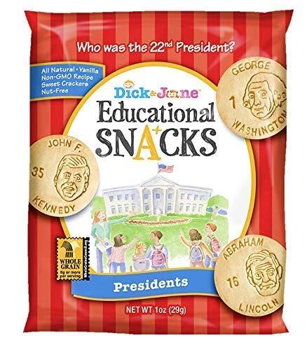 Educational Snacks Dick&Jane Sweet Vanilla Presidents Crackers