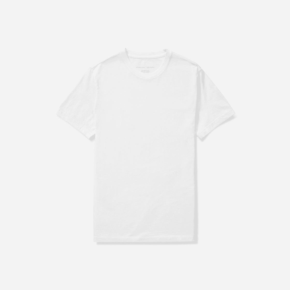 Everlane Organic Cotton Crew T-Shirt in white