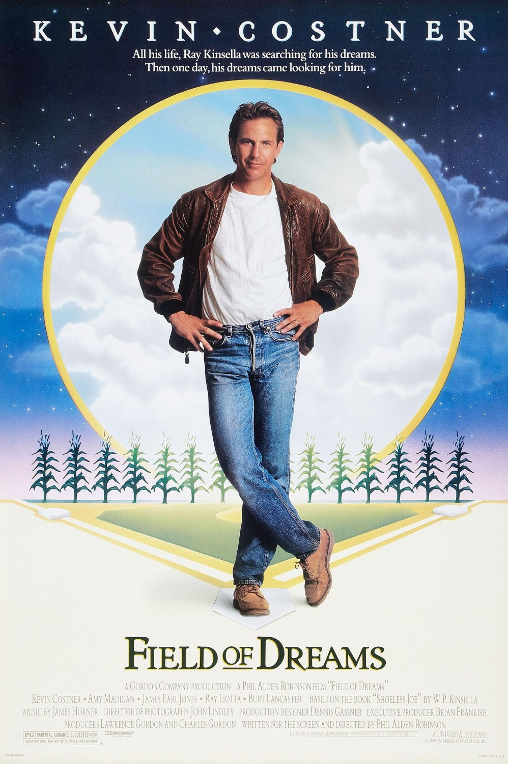 Field of Dreams movie poster; best baseball movies