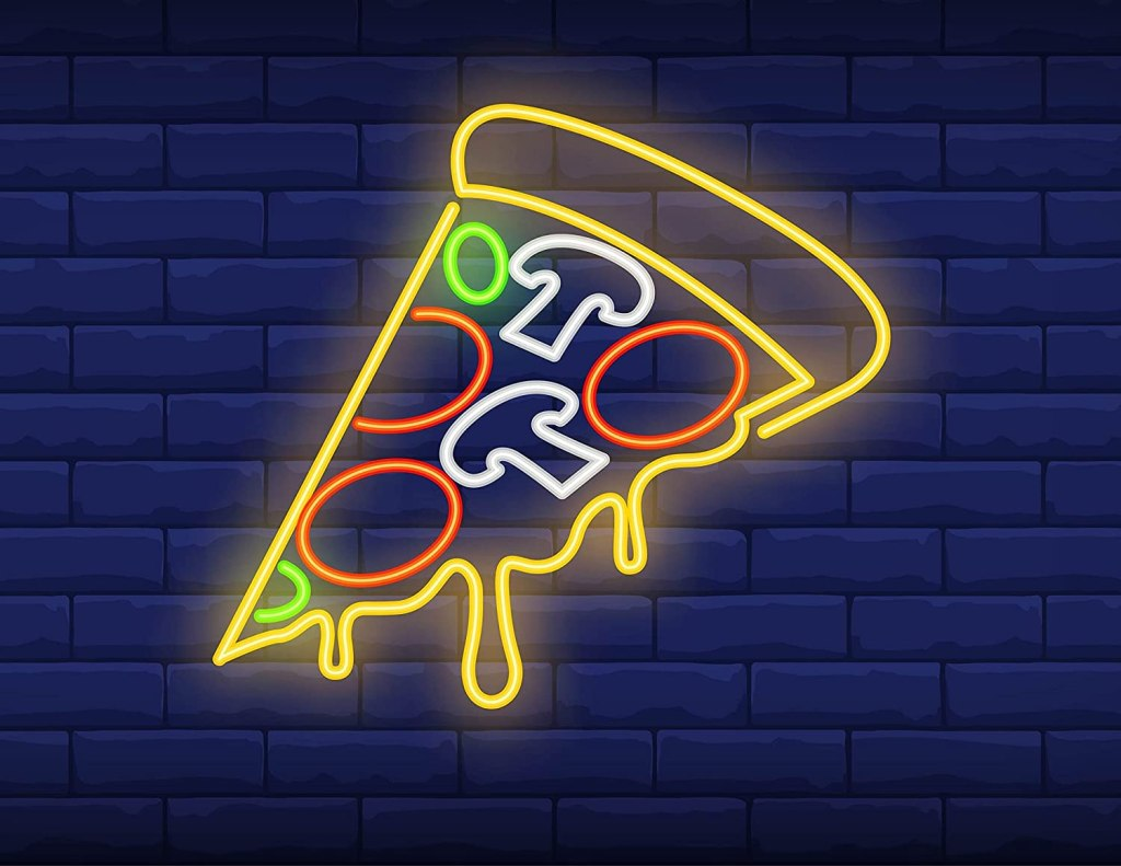 Firefly home and decor neon pizza light